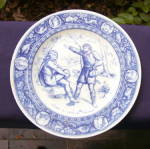 Click here to enlarge image and see more about item 292E: Wedgwood Ivanhoe Series Plate