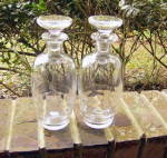 Click here to enlarge image and see more about item 4349: Modern Era Pair Blown Bottles