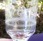 Click to view larger image of Flint Cut/Engraved Wine with Insects (Image2)