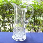 Click here to enlarge image and see more about item 4644: Cut Log tankard water pitcher