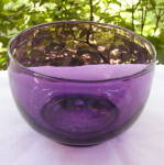 Click here to enlarge image and see more about item 4891: Amethyst Flint Waste / Finger Bowl