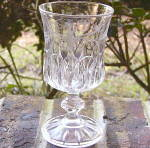 Click to view larger image of Crystal Wedding Goblet – etched (Image1)