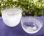 Click to view larger image of Fruit/Finger Bowls – Blown, Cut, Etched (5)	 (Image1)