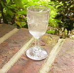 Click here to enlarge image and see more about item 5115: Bellflower Flint Glass Wine