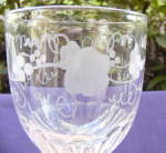 Flint Goblet with Grape Etching