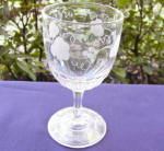 Click to view larger image of Flint Goblet with Grape Etching (Image2)