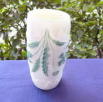 Click here to enlarge image and see more about item 5375: Delaware Opaque Ivory Vase