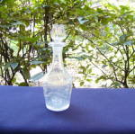 Click here to enlarge image and see more about item 5617: Sandwich Ribbed Ivy Cordial Decanter