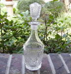 Click here to enlarge image and see more about item 5635: Horn of Plenty Flint Pint Decanter