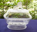 Click to view larger image of Lion Oval Covered Compote (Image1)