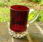 Click to view larger image of Pavonia Ruby Stained Mug (Image1)