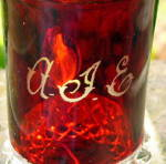 Click to view larger image of Pavonia Ruby Stained Mug (Image2)
