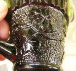 Click to view larger image of Sandwich Ivy Child's Creamer Black Amethyst (Image4)