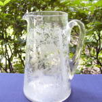 Etched Stag in Forest Water Pitcher