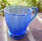 Shell and Tassel  or Tree of Life Blue Mug