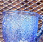 Click to view larger image of Shell and Tassel  or Tree of Life Blue Mug (Image6)
