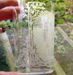 Click to view larger image of Etched Glass Tumbler  Palais Ducal Nancy (Image3)