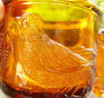 Click to view larger image of Atterbury Robin Amber Glass Mug (Image2)