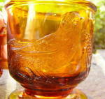 Click to view larger image of Atterbury Robin Amber Glass Mug (Image4)