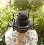 Click to view larger image of Bulls Eye and Fleur de Lis Flint Fluid Lamp (Image6)