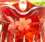 Click to view larger image of Cordova Individual Ruby Stained Creamer (Image2)