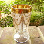 Click here to enlarge image and see more about item 5882: Garland Drape Goblet
