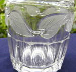 Click to view larger image of Frosted Leaf Flint Decanter (Image2)