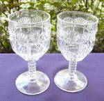 Click to view larger image of Block and Fan Goblets (2) (Image1)