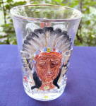Click here to enlarge image and see more about item 6032A: Masonic 1903 Saratoga Indian Mug