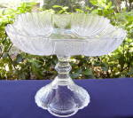 Click to view larger image of Shell and Tassel Large Square Compote (Image1)