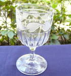 Click here to enlarge image and see more about item 6044: Frosted Leaf Ladies Flint Goblet