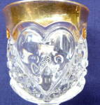 Click to view larger image of Heart with Thumbprint Wine/Gold Trim (Image2)