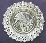 Click here to enlarge image and see more about item 6075: Angels/Cupids Lacy Edge Plate