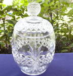 Click here to enlarge image and see more about item 6098: Royal Crystal Cracker Jar