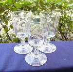 Click to view larger image of Etched Fern Goblets (3) (Image1)