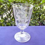 Click to view larger image of Grapes and Sunburst Wheel Cut Goblet (Image2)