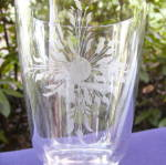 Click to view larger image of Grapes and Sunburst Wheel Cut Goblet (Image4)