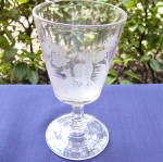 Click to view larger image of Etched Buck and Doe Goblet	 (Image1)