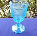 Click to view larger image of Willow Oak Blue Goblet (Image1)