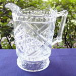 Click here to enlarge image and see more about item 6221: Daisy and Button with Crossbars Water Pitcher