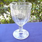 Click to view larger image of Paneled Apple Blossom Goblet (Image1)