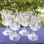 Click to view larger image of Elmino Etched Goblets (set of 4) (Image1)