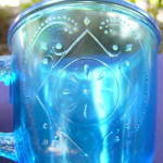 Click to view larger image of Diamond with Circle Mug, Blue (Image3)