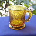 Click here to enlarge image and see more about item 6250: Butterfly with Spray Amber Mug