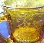 Click to view larger image of Butterfly with Spray Amber Mug (Image3)