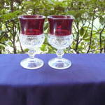 Click to view larger image of Ruby Thumbprint Goblets (set of 4) (Image3)