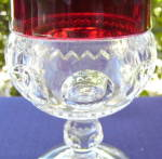 Click to view larger image of Ruby Thumbprint Goblets (set of 4) (Image6)