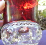 Click to view larger image of Ruby Thumbprint Goblets (2)	 (Image3)