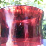 Click to view larger image of Ruby Thumbprint Goblets (2)	 (Image4)