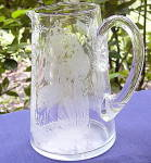 Stork Feeding Etched Pitcher